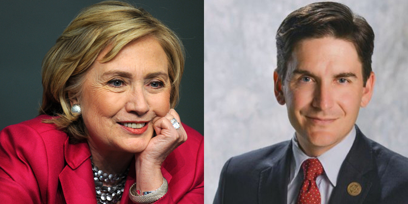 Hillary Clinton and Justin Kollar
