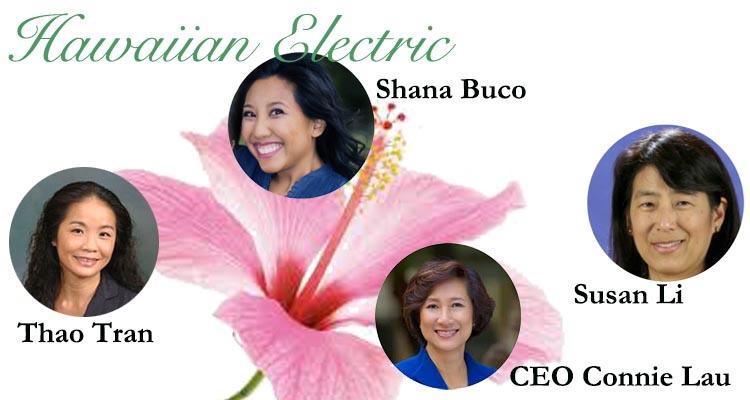 Women of Hawaiian Electric: Connie Lau, Thao Tran, Susan Li and Shana Buco