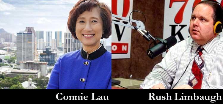Hawaiian Electric Connie Lau and Rush Limbaugh