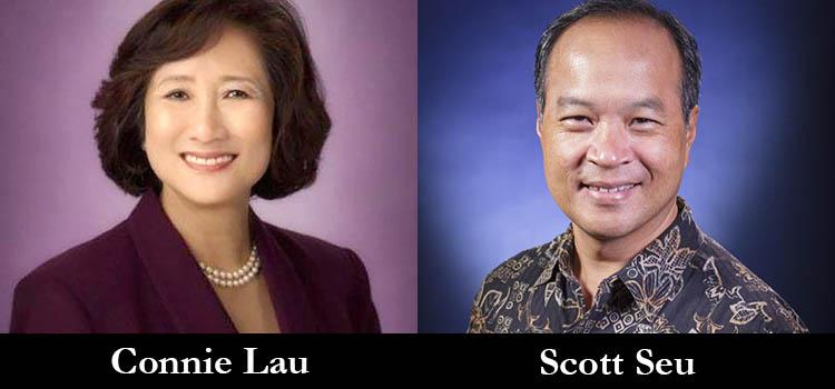 Hawaiian Electric Executives Connie Lau and Scott Seu