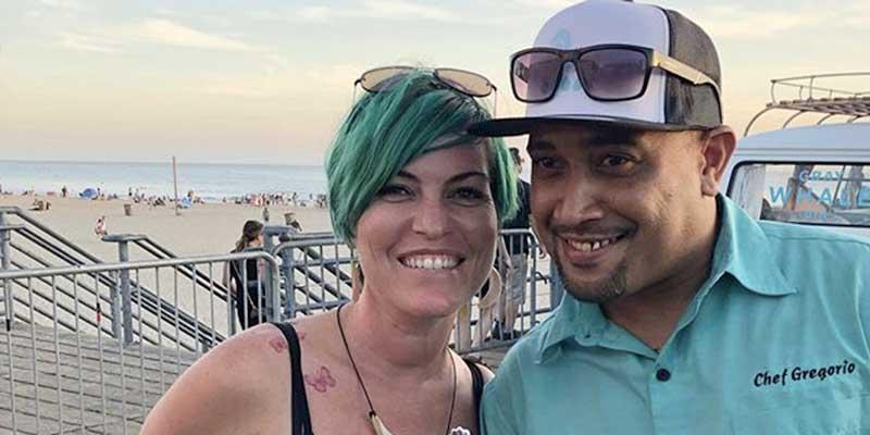 Greg Ngiraiwet and Lauren 'Monti' Silva in happier times