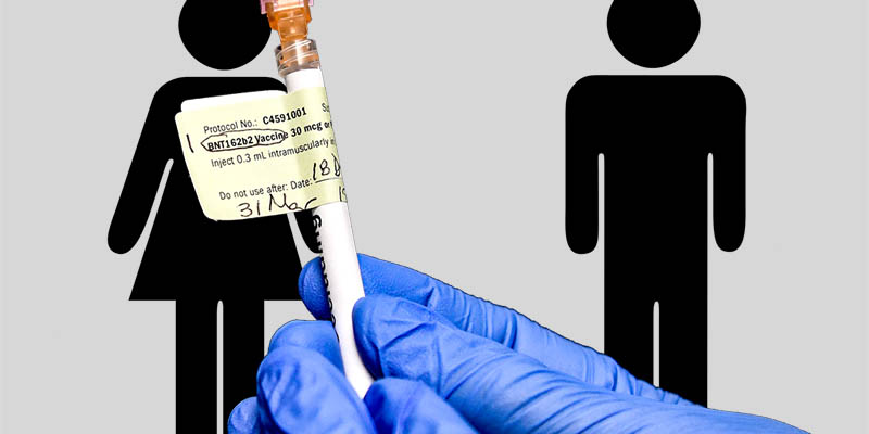 Why do women receive the same dosage of vaccine that men do?