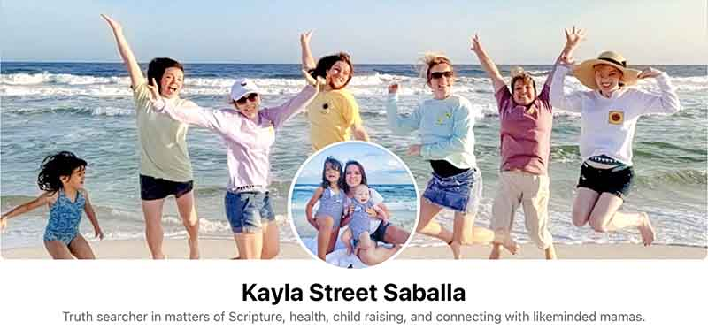Kayla Street Saballa cares for kids