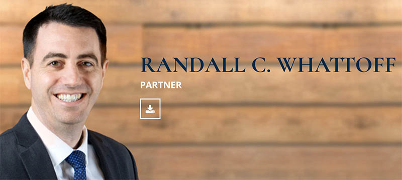 Randall C. Whattoff, partner at Cox Fricke