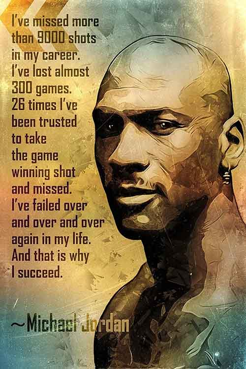 Michael Jordan had the COURAGE to fail. That's why he succeeded.