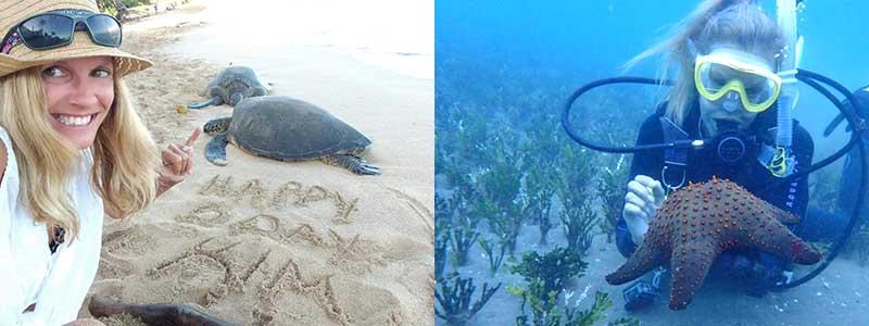 Kimberly England Disturbing Local Sea Creatures. Major Kapu