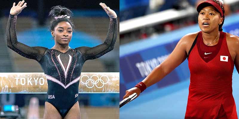 Simone Biles and Naomi Osaka Challenged by Pressure of World Competition