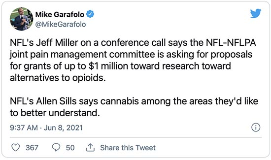 NFL Requests Proposals to Study Medical Cannabis