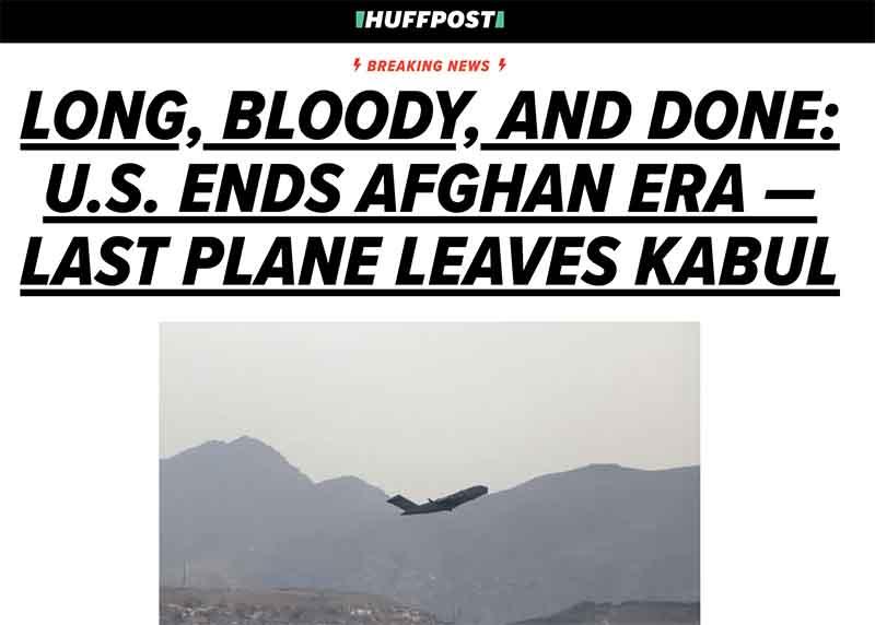 America's long, bloody adventure in Afghanistan has ended