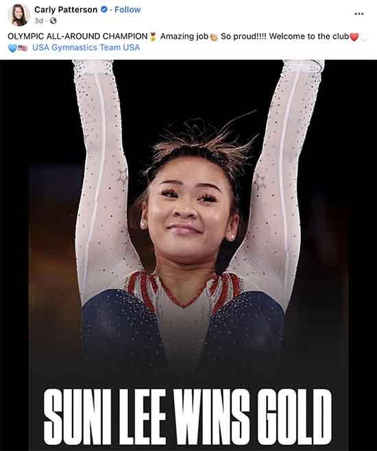 Suni Lee wins gold. The Queen is dead; long live the Queen.